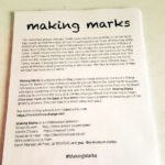Making Marks flyer